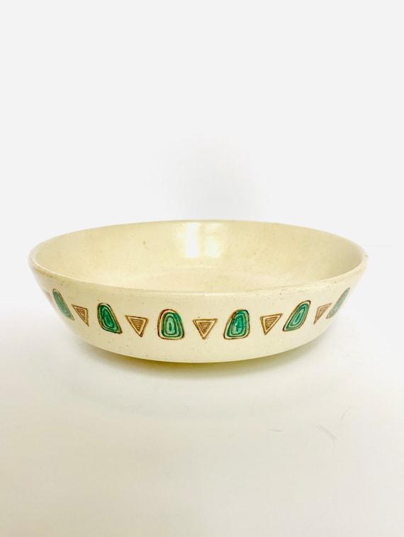 Vintage Mid Century Metlox Poppytrails Navajo Serving Bowl
