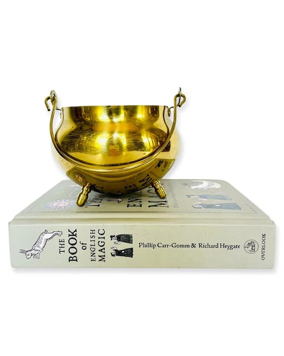 Vintage Solid Brass Cauldron Bowl