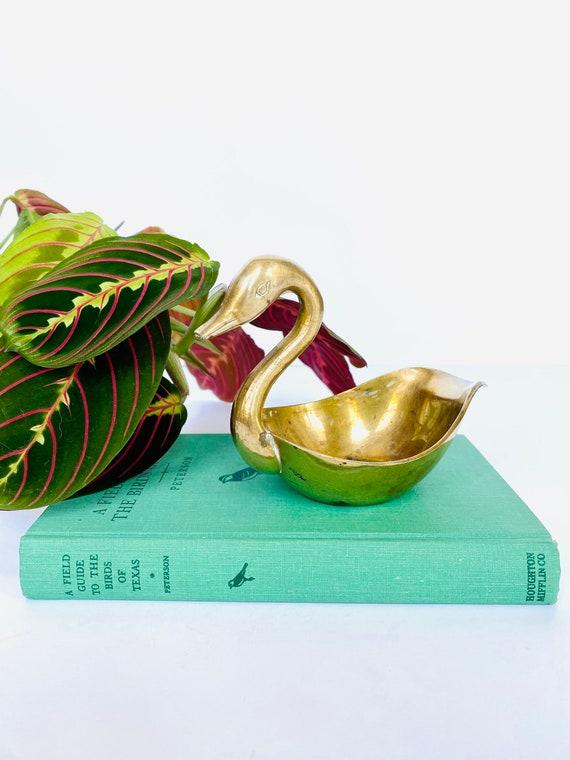 Vintage Mid-Century Brass Swan Bowl or Dish