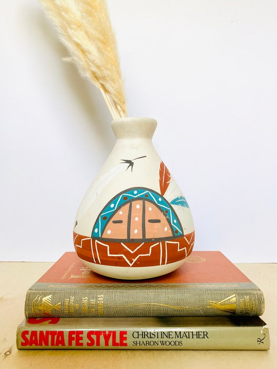 Handmade Painted Native American Style Pot