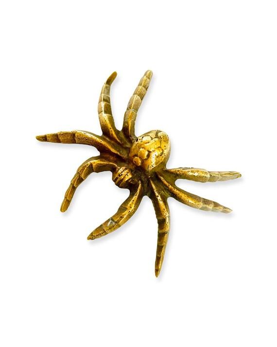 Antique Solid Brass Spider