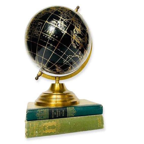 Vintage Black and Gold Globe