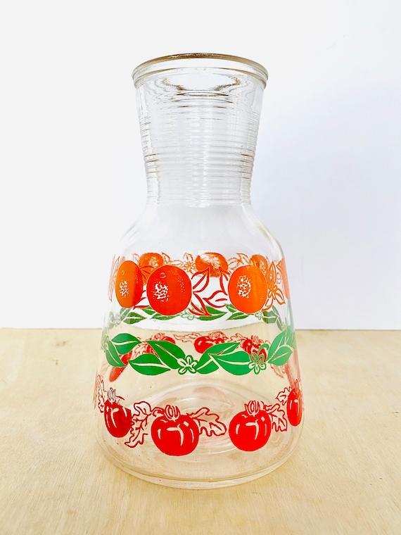 Vintage Mid-Century Hazel Atlas Tomato and Orange Juice Carafe
