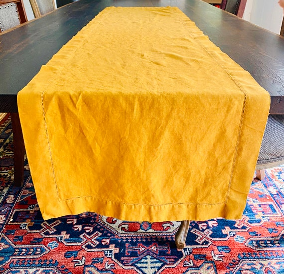 "Vintage Neiman Marcus 70"" Table Runner Tablecloth"