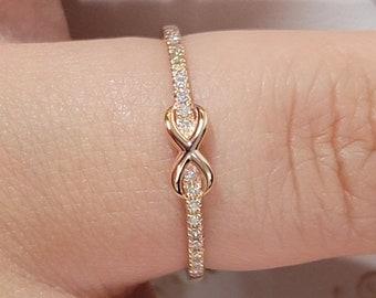 Diamond Ring For Women, Rose Gold Ring, Diamond Engagement Ring, Diamond Wedding Ring, 14k Gold Ring, Stacking Ring, Eternity Band