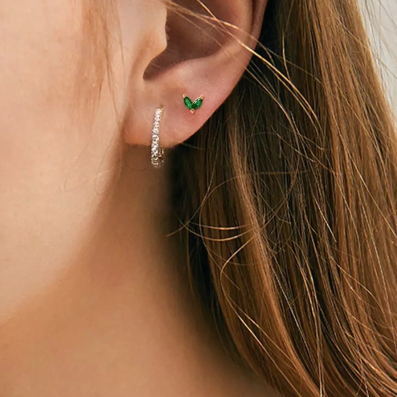 Birthstone Studs Tiny Studs Ruby Earrings Emerald Earrings Black Diamond Stud Earrings Gemstone Stud Earrings 14k Solid Gold Earrings
