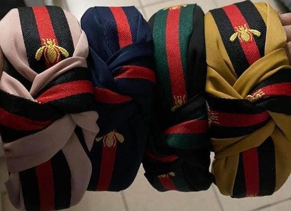 SALE- Top knot headband, bee headband, GG style headbands, luxury headbands, striped bee headband, bumblebee headband, Christmas gifts