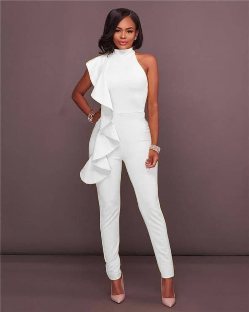 White sleeveless jumpsuit | Stay at Home Mum