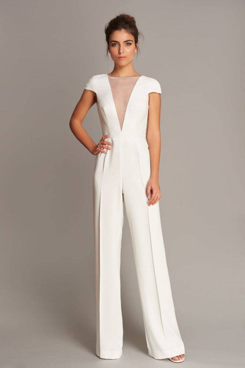 White Bridal Jumpsuit | Stay at Home Mum
