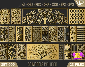   cnc file Dxf 3DS FBX laser cutting file DWG Cdr 29 Ornamental border 3D models and vector files AI Set 059   Svg Eps Max