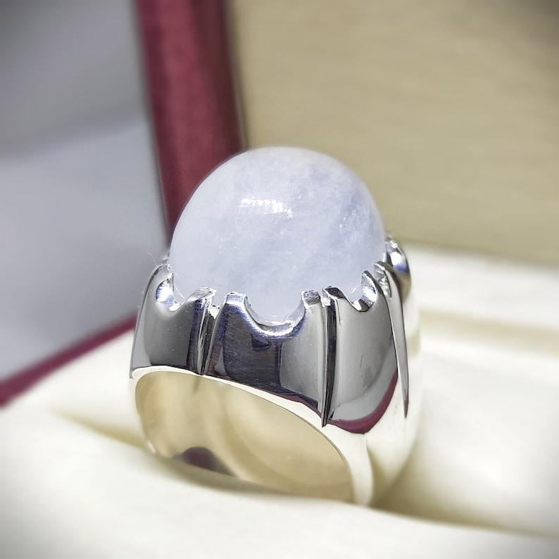 New Stunning Natural Quartz Ring Dur e najaf White Quartz Ring Stylish Ring Handmade Ring Engagement Ring flawless Ring 50/%OFF Pure Silver