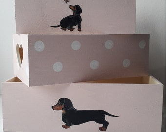 Sewing Box Basket Medium ~ Hound Dog ~ Dachshund ~ HobbyGift ~ Storage HGM\369