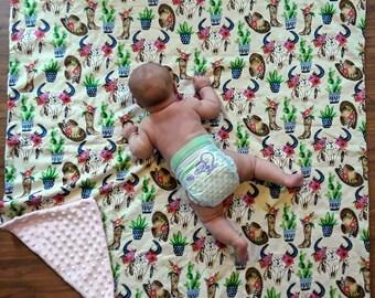 Reversible Weiche Sherpa Minky Babydecke FüR Junge MäDchen Toddle Child Infant