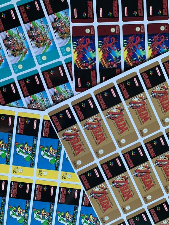 SNES Classic Mini  Retroflag Cartridge Sticker Replica PAL Designs