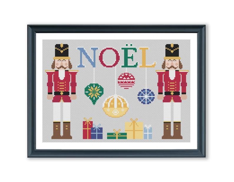 Nutcracker Noel cross stitch pattern Christmas cross stitch xstitch PDF pattern ready for immediate download