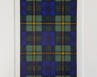 PAINTING HIGHLAND CLAN SCOTLAND TARTAN MACCRIMMON FRAMED ART PRINT B12X12506