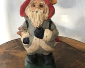 Father Christmas Clay Sculpture by Marietta Myer