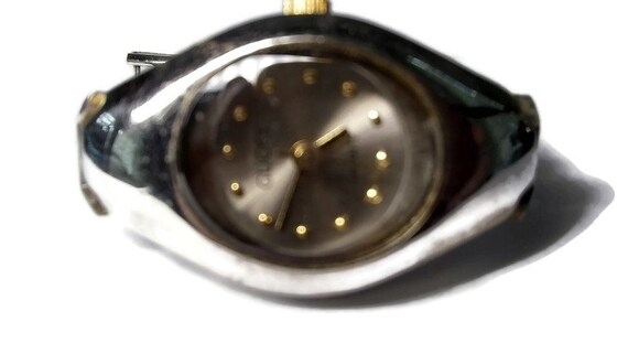 Vtg 90s Gucci Chain Link Watch WORKS - image 2