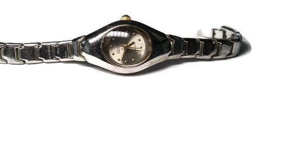 Vtg 90s Gucci Chain Link Watch WORKS - image 1