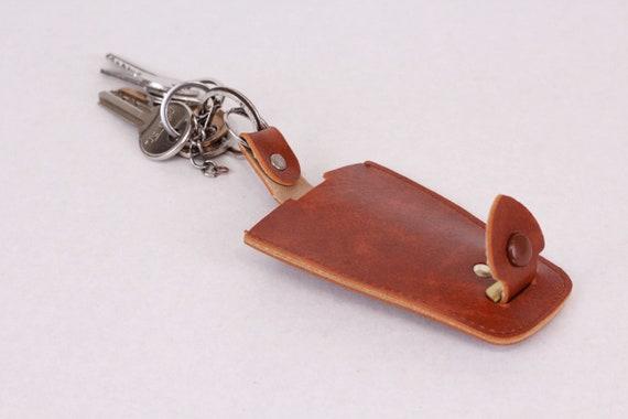 bear figurine, old keychain key holder leather keychain for men vintage keychain vintage key holder Leather keychain