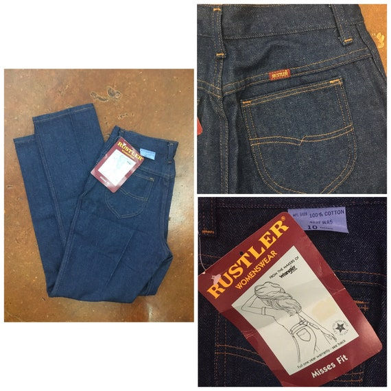 70's Deadstock Vintage High Waisted Rustlers Jeans