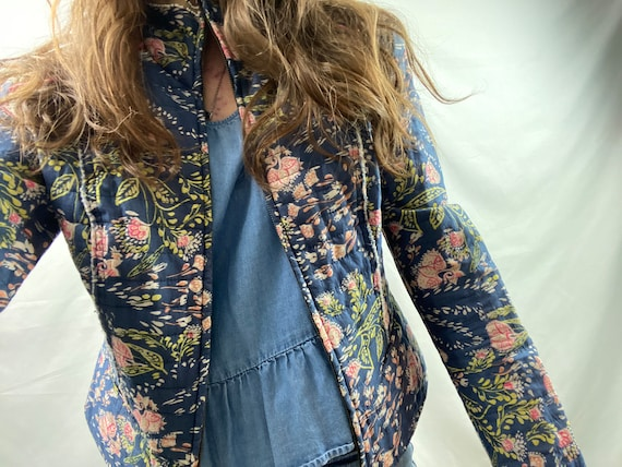 Paisley Patterned Quilted Jacket