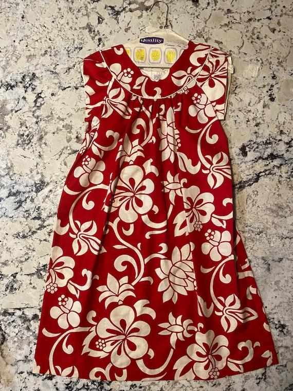 Liberty House Waikiki Red Floral Dress