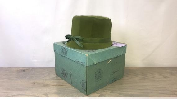 Green Velvet Hat (Union Made)