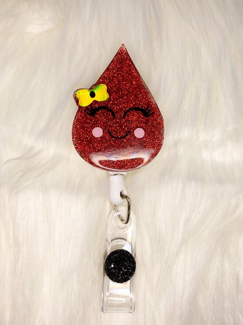 Cute Badge Reel Nurse Glitter Badge Reel Nurse Badge Reel Badge Reel Blood Drop Medical Badge Reel Phlebotomist Badge Reel