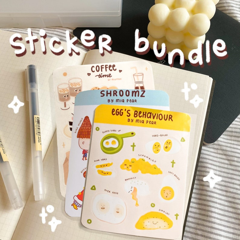Bullet Journaling Stickers Planner Stickers Cute stickers Bujo Stickers Sticker sheet bundle Super gloss finish