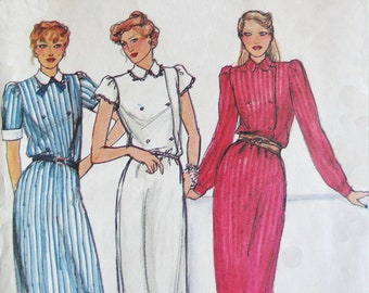Butterick 3064 1970s Vintage Sewing Pattern Dress with Peter Pan Collar