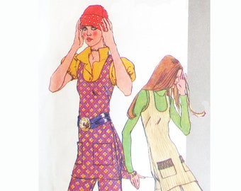 Simplicity 9567 Vintage 1971 Sewing Pattern Hot Pants Scooped Neck Tunic