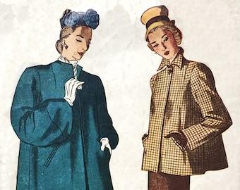 Simplicity 1716 1946 Swing Jacket Sewing Pattern
