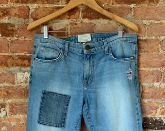 Liberty of London Upcycled Current/Elliot Jeans with GENUINE Liberty of London Fabrics
