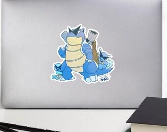 Blastoise and Sons Pokemon Squirtle Nerdy Cute Kawaii Sticker