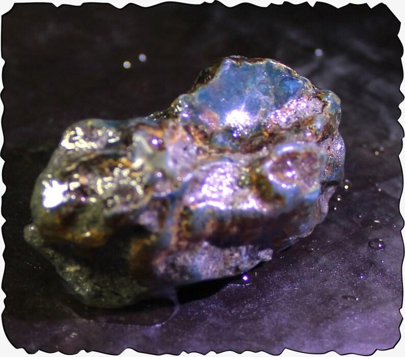 Dominican Natural Translucent Ocean Blue Amber Rough Specimen 73x38x30mm 175cts