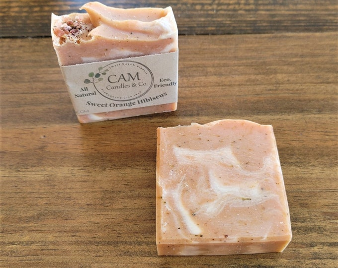 Sweet Orange Hibiscus Soap