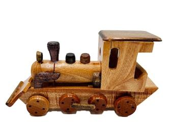 vintage wooden toy train primitive toy block train cars