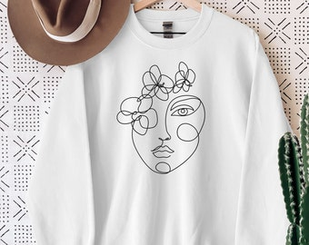 Abstract Women T-shirt Unisex Art Drawing T-shirt Aesthetic Women/'s Long Sleeve Aesthetic Minimalist T-shirt Minimalist Women T-Shirt