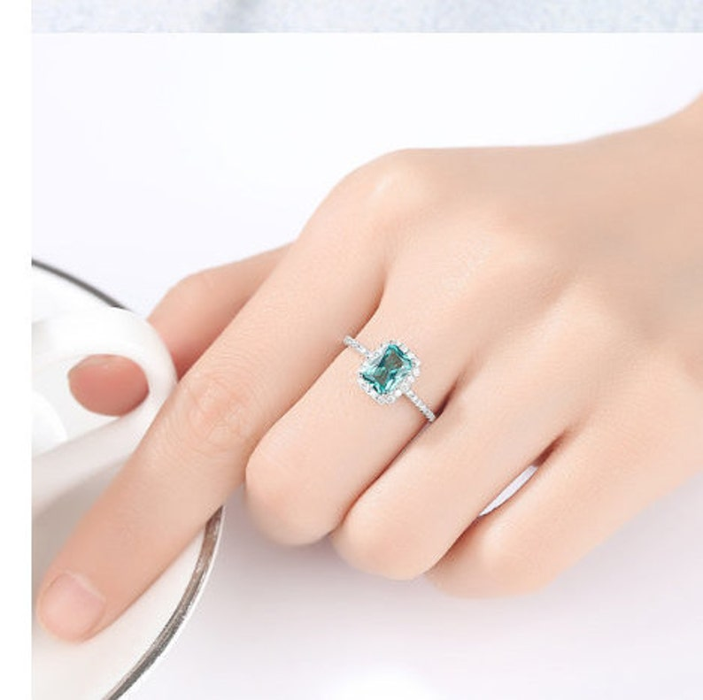 Emerald Ring925 Sterling Silver RingLab Created Emerald RingRingsAnniversary GiftGiftBridesmaid GiftGift for Women