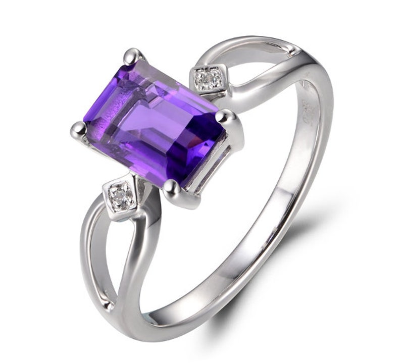 Amethyst Ring925 Sterling Silver RingLab Created Amethyst RingRingsBridesmaid GiftGiftPromise ringGift for WomenJewelry.