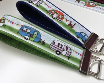Retro Camper Caravan - Keychain made of felt color selectable Summer Camping Winter Camping