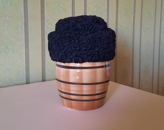 Soviet fur hat (karakul). Vintage winter hat