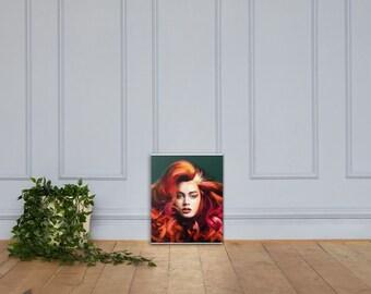 Fire Ivy 3 Bilder er auf Abstrakte Kunst auf Leinwand Wandbild Poster