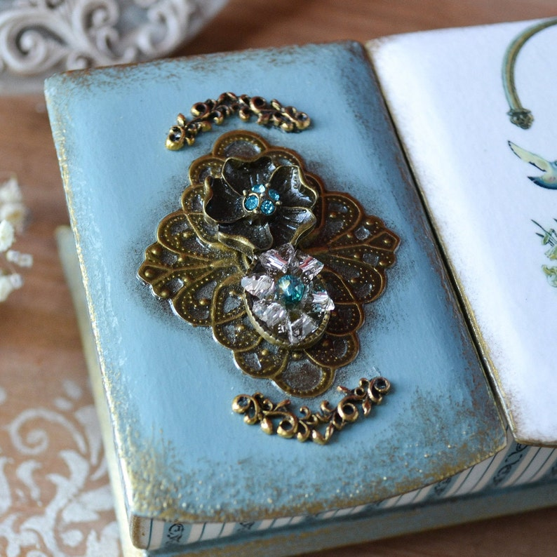 Vintage jewelry box for watches and rings wedding gift for mom
