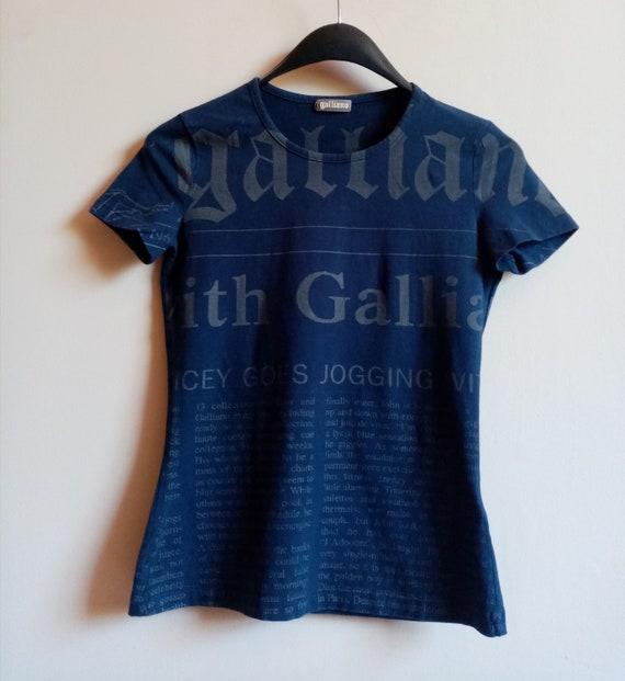 Vintage iconic John Galliano newspaper print