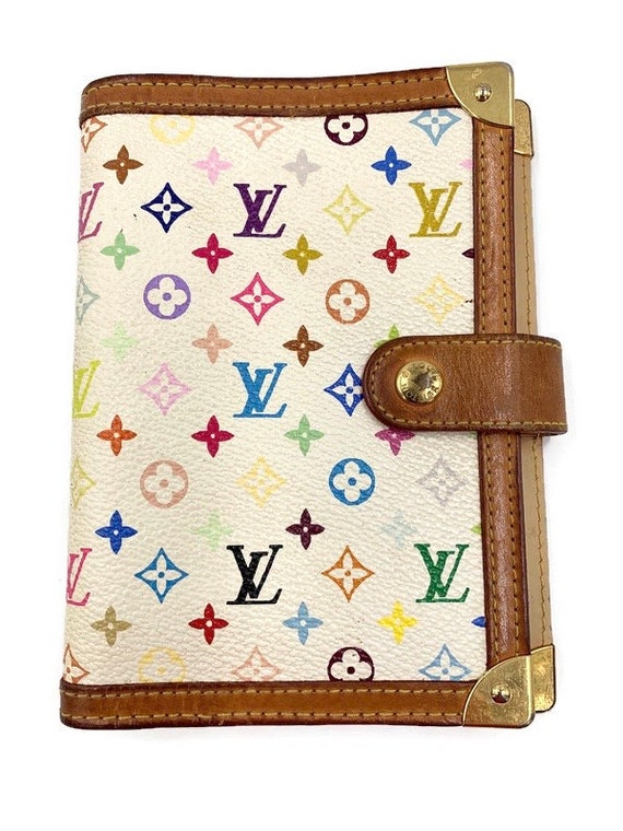 Authentic Louis Vuitton Multicolor White Agenda PM