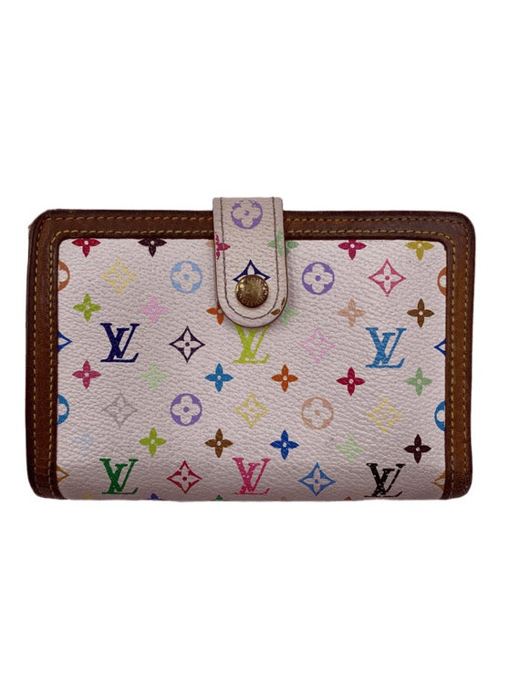 Authentic Louis Vuitton Multicolor White Wallet