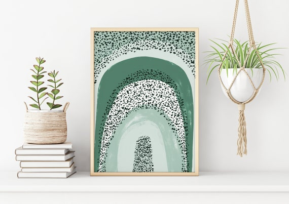 Sage Green Rainbow, Printable Wall Art, Boho Nursery Decor, Abstract Art Print, Instant Download Art, Minimalist Print, Digital Print