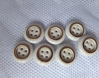 5x bottoni in metallo-emisfero 15mm-camicette Bottoni